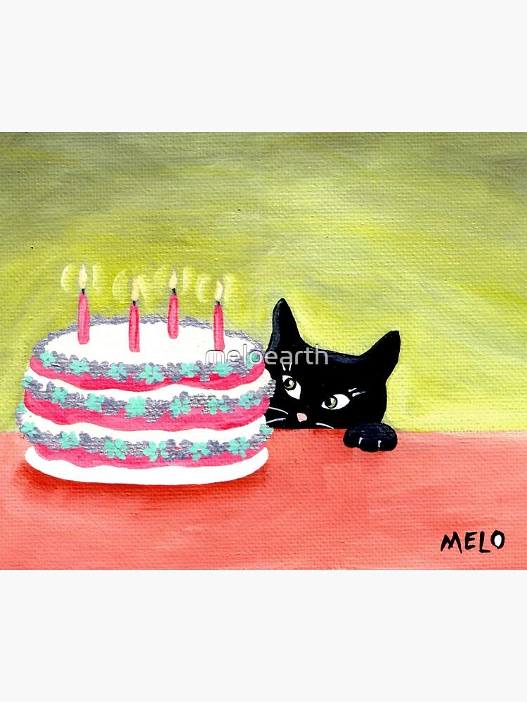 Meow Pussycat Cat Cake Furbaby Birthday by meloearth