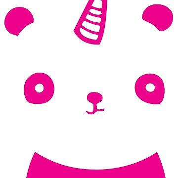 I Am PandiCorn - Pink Logo Design by 108dragons