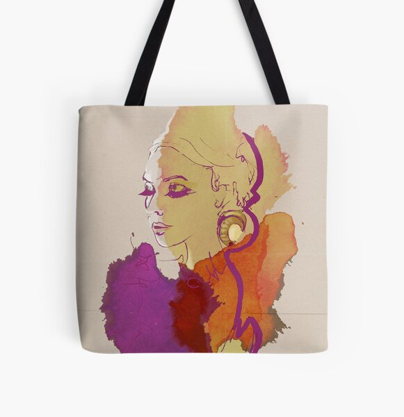 Fashion Illustration Allover-Print Tote Bag
