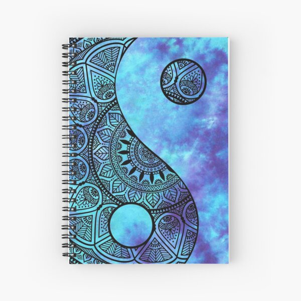 Peace, Tranquility and Tie Dye Spiral Notebook