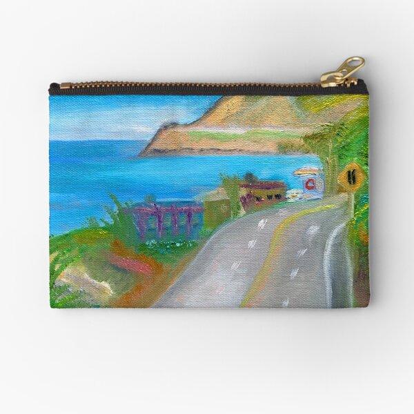 Beach Art Malibu, California Zipper Pouch