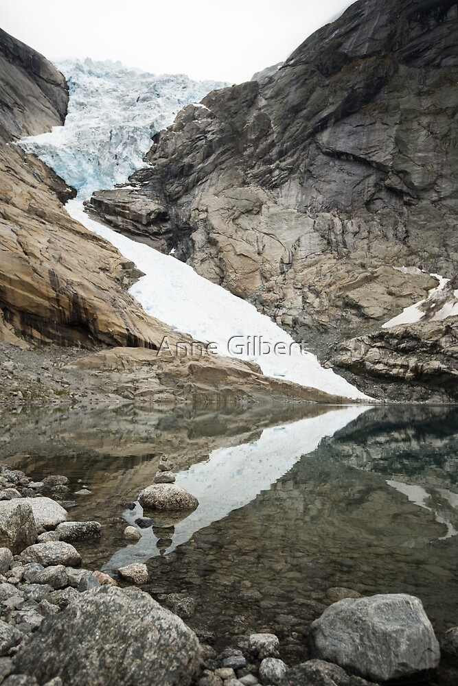 At the Edge of the Glacier by Anne Gilbert