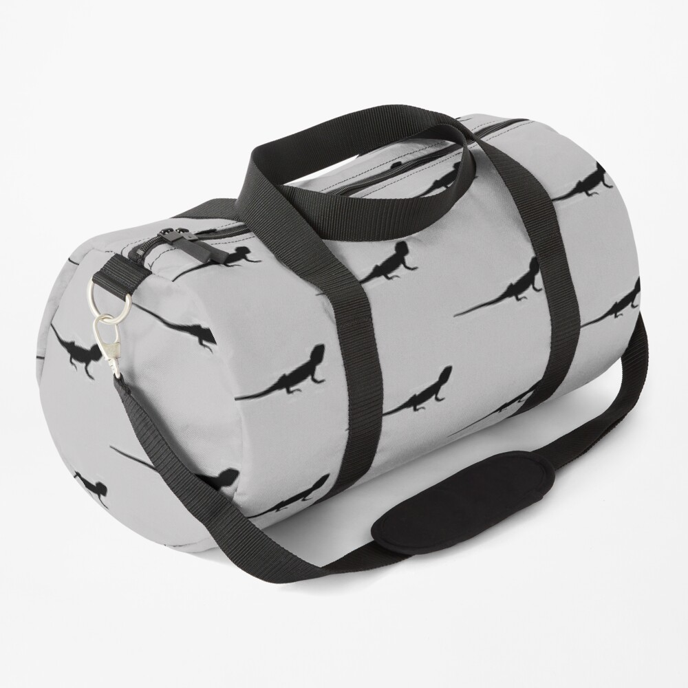 Bearded Dragon Reptile Silhouette Duffle Bag