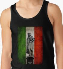 Christopher Columbus Statue with Italian Flag Tanktop für Männer
