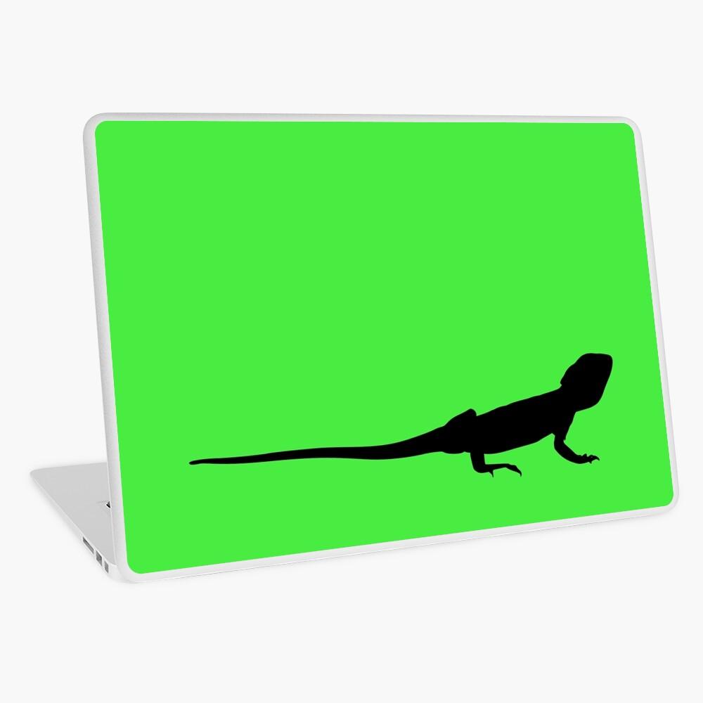 Bearded Dragon Reptile Silhouette Laptop Skin