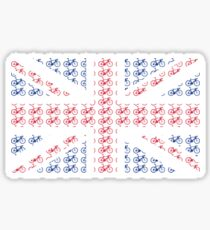 Bike Flag United Kingdom (Small) Sticker