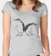 Little Blue Penguins - smallest penguin in the world! Women's Fitted Scoop T-Shirt