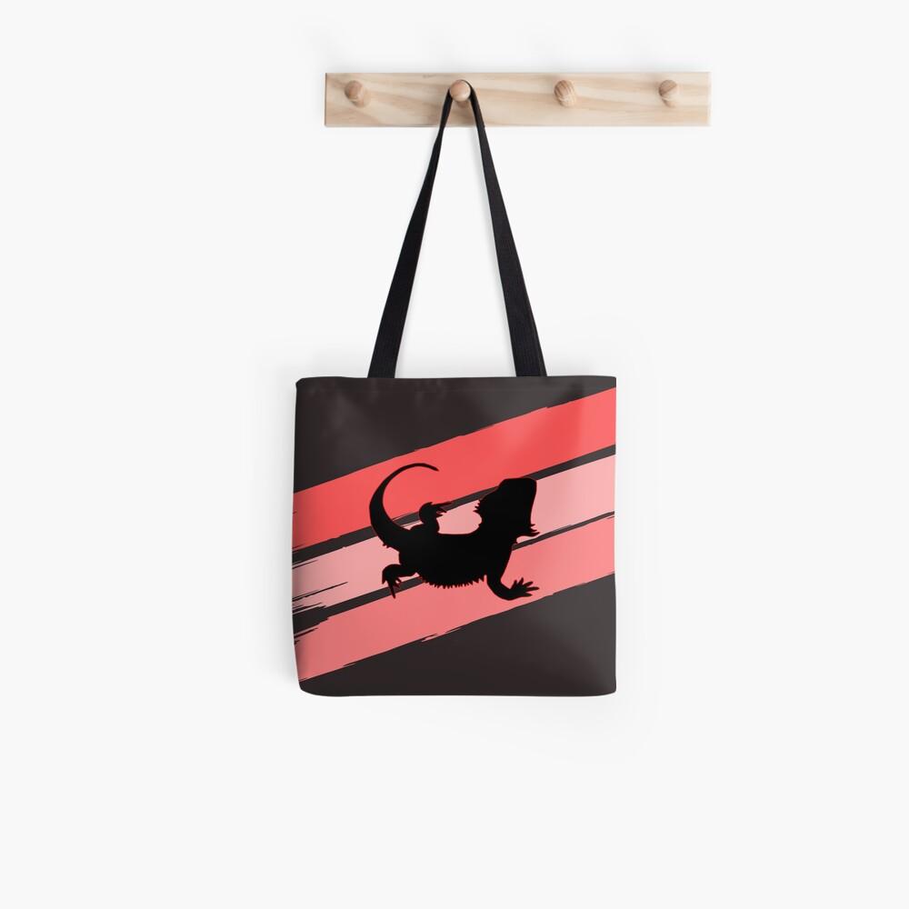 Bearded Dragon Brush Stroke Silhouette Tote Bag