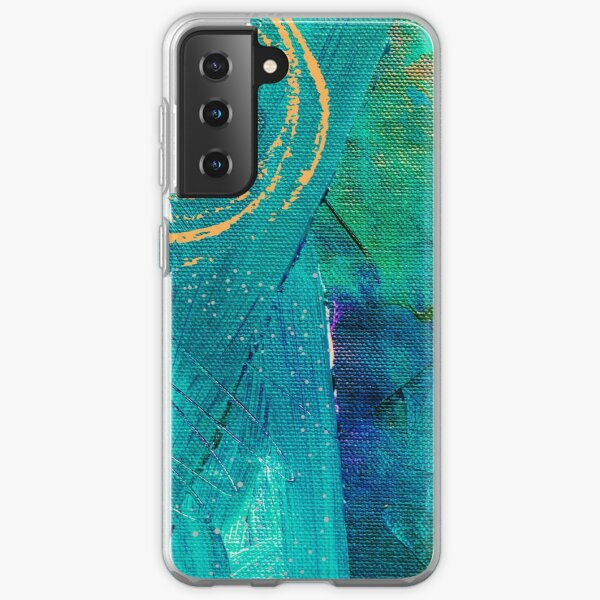 Turquoise painting design Samsung Galaxy Soft Case