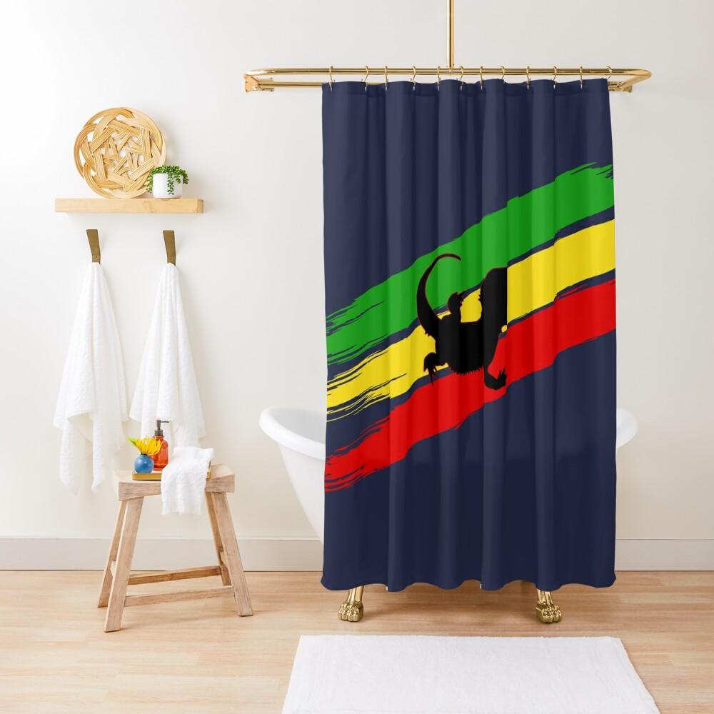 Rastabeardian Shower Curtain