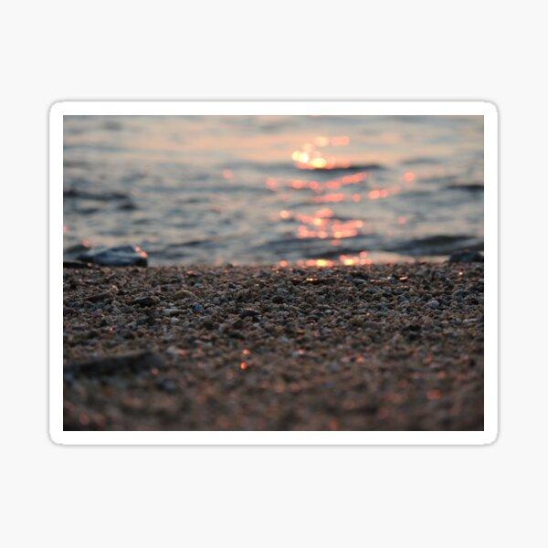 Sand on fire, sunset on the beach Sticker