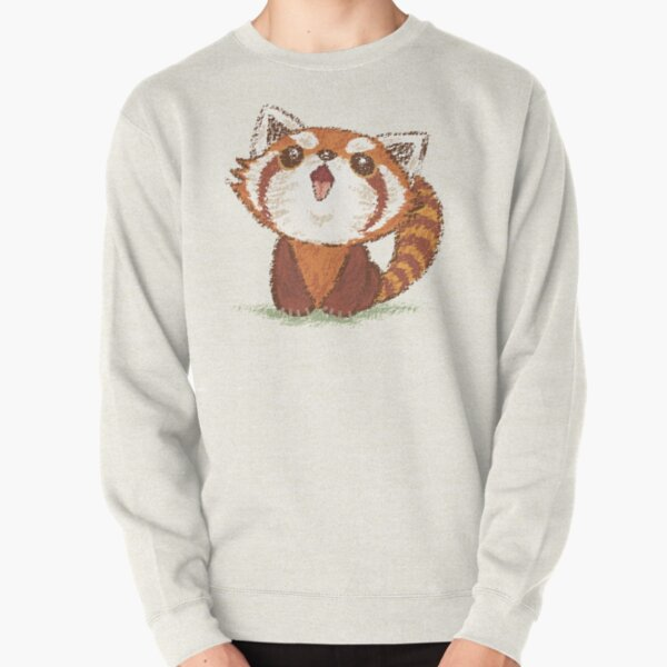 Red panda happy Pullover Sweatshirt
