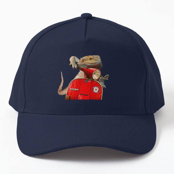 Born To Be Wild - Bearded Dragon On A Vespa Baseball Cap