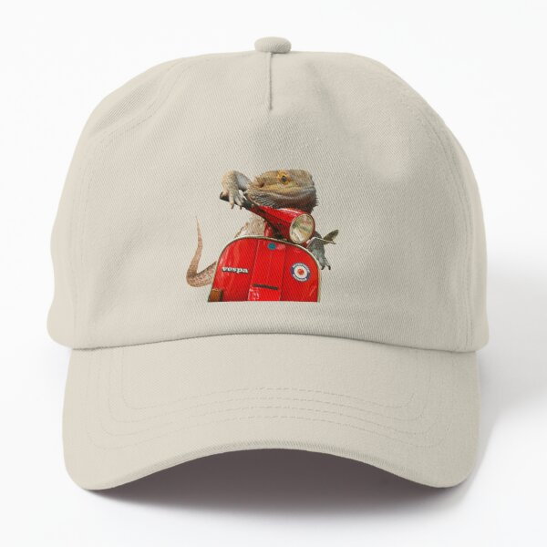 Born To Be Wild - Bearded Dragon On A Vespa Dad Hat
