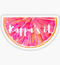 Kappa's It Grapefruit Sticker