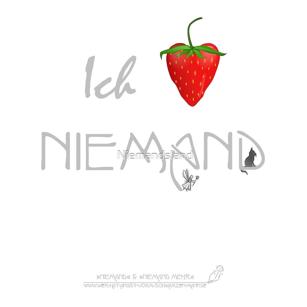 Ich liebe Niemand (helles Design) von Niemandsland