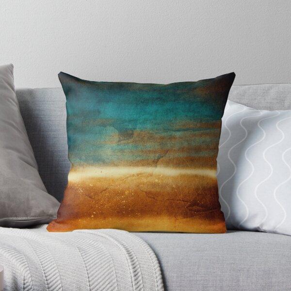 Abstract Landscape No 2: the desert Throw Pillow
