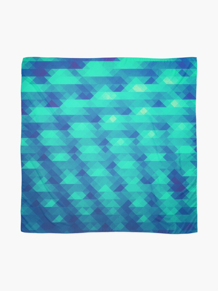 Alternate view of Modern Fashion Abstract Color Pattern in Blue / Green Scarf