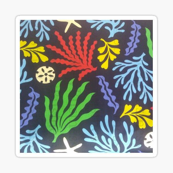 Coral print Sticker