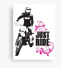 Just Ride- Motorcyle Rider Girl Canvas Print