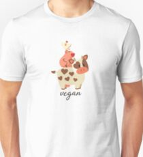 Happy Cow, Pig, and Chicken - Vegan T-Shirt