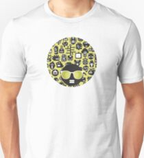Robots faces green Unisex T-Shirt