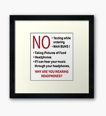 Gilmore Girls – Lukes Diner New Sign Framed Print