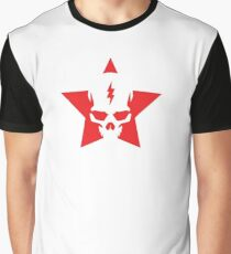 SkullStar WhiteRed Logo Graphic T-Shirt