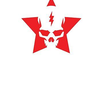 SkullStar WhiteRed Logo by AdamNichols