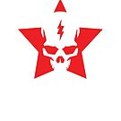 SkullStar WhiteRed Logo by Adam Nichols