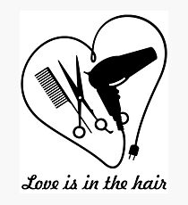 Love is in the hair VRS2 Photographic Print