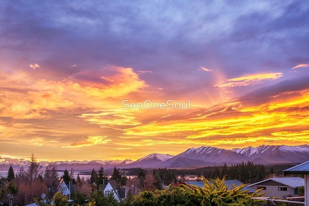 Sunrise over Tekapo by SeeOneSoul