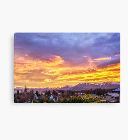 Sunrise over Tekapo Canvas Print