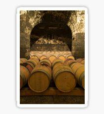 Oak Wine Barrels in Cellar Sticker