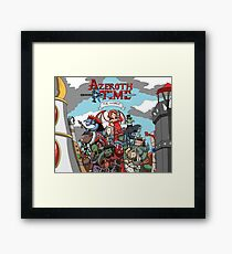 Azeroth time - The Horde Framed Print