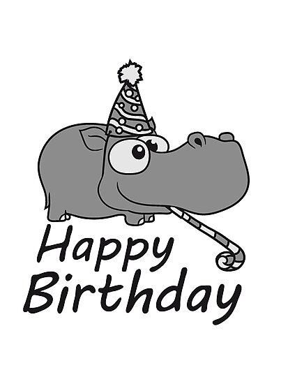 Happy Birthday Birthday Celebrate Party Hat Trot Gift Comic Cartoon