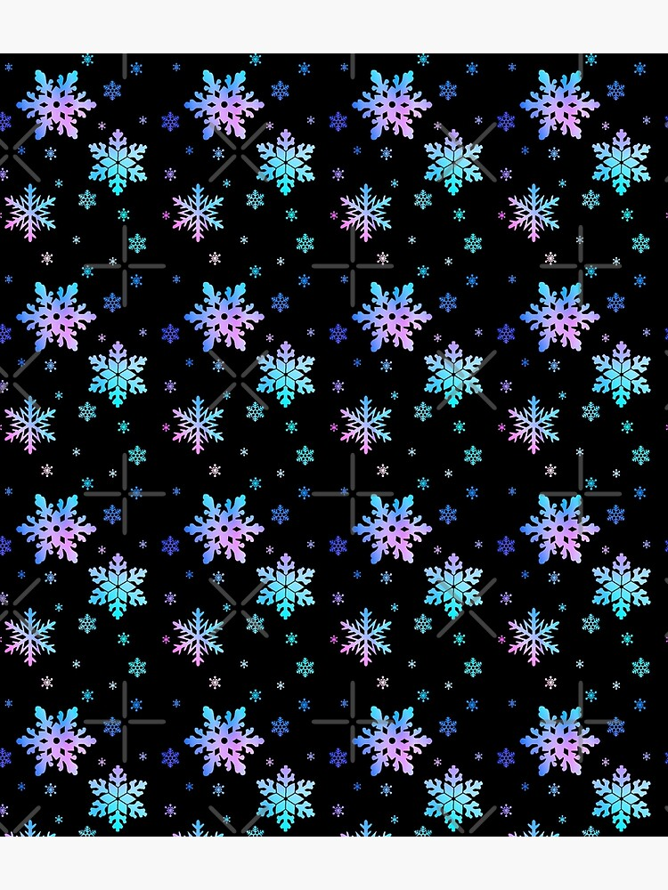Neon Colorful Snowflakes by GlennLandasWSS1