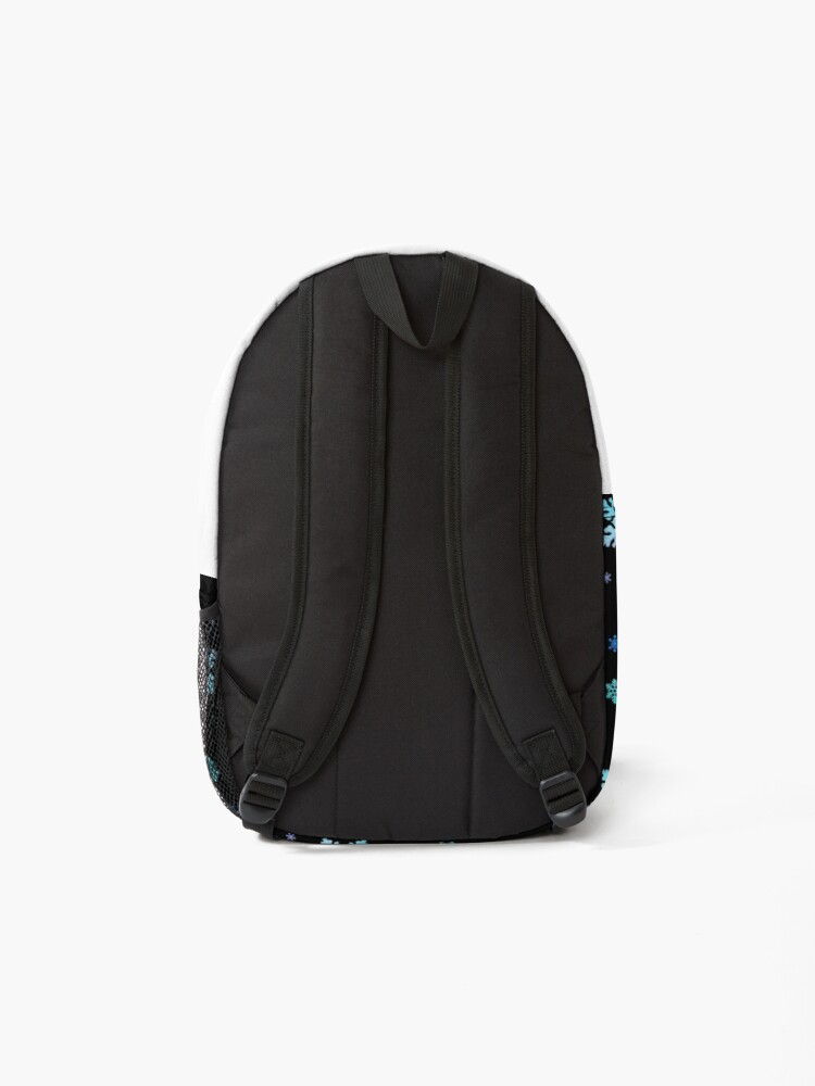 Alternate view of Neon Colorful Snowflakes Backpack