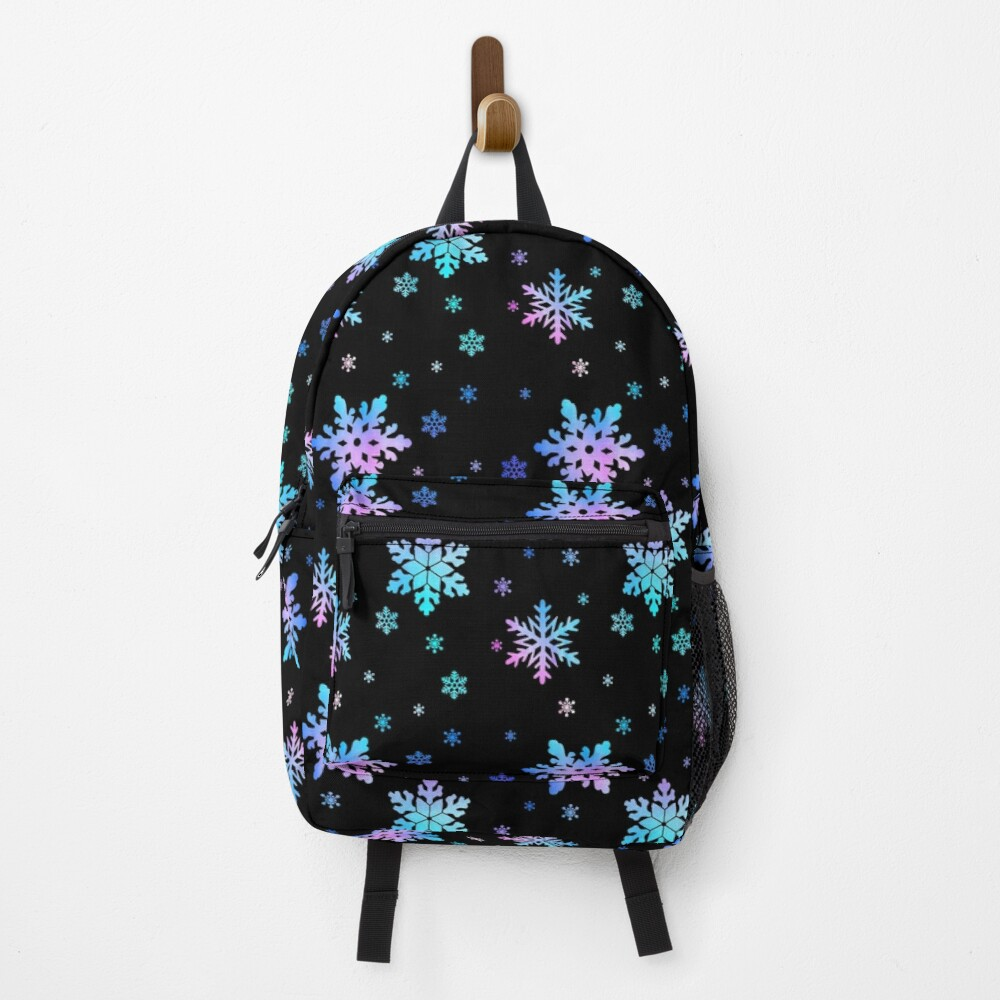 Neon Colorful Snowflakes Backpack