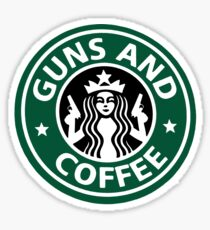 guns and coffee RC Sticker
