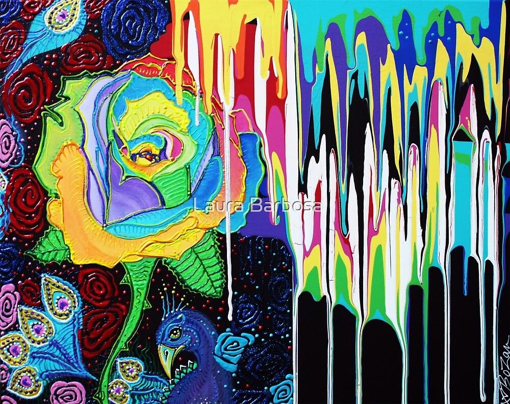 Rainbow Rose by Laura Barbosa