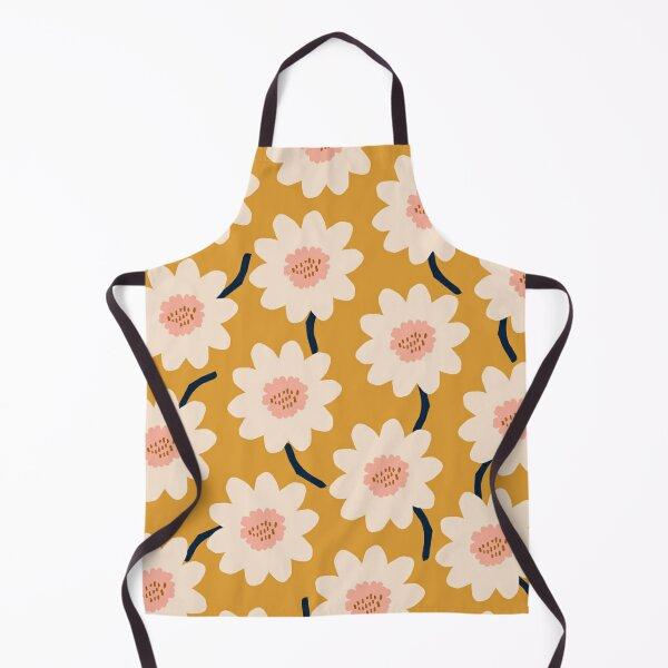 Flower field - yellow Apron
