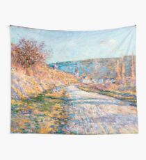 1879-Claude Monet-The Road to Vétheuil-23 x 28 Wall Tapestry