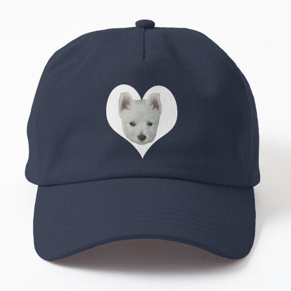 West Highland White Terrier Puppy Portrait 4 Dad Hat