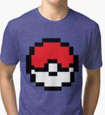 8 bit Pokeball Tri-blend T-Shirt