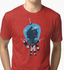 Aero - the Aquatic Alien Tri-blend T-Shirt