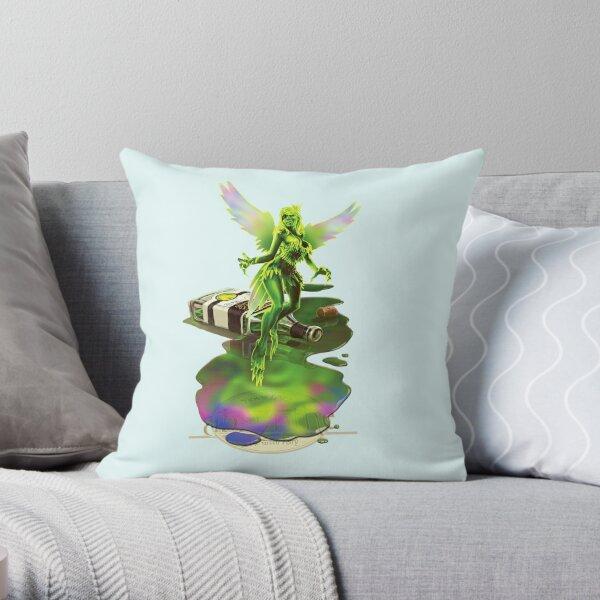 Absynthe - 'The Green Fairy' Throw Pillow