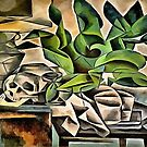 Still life with Skull After Bohumil Kubista by taiche