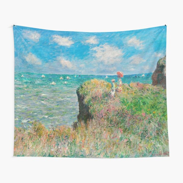 1882-Claude Monet-Cliff Walk at Pourville-66 x 82 Tapestry