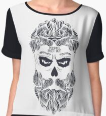 Zombies dont cry! Brutal halloween!  Chiffon Top